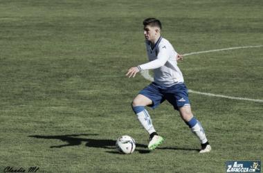 Raúl Guti dio la victoria al filial en Borja (Foto: Claudia Moreno | Aúpa Zaragoza).