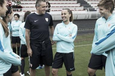 """Joseba Agirre: """"Repetir los números de la primera vueltaserá difícil, pero tenemos la ilusión de seguir trabajando y mejorando"""". Foto: Athletic."""