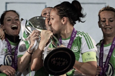 Nadine Keßler led Wolfsburg to an absolute dominance of women's football in Europe. (Photo: UEFA)
