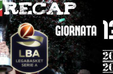 Legabasket: risultati e tabellini della tredicesima giornata