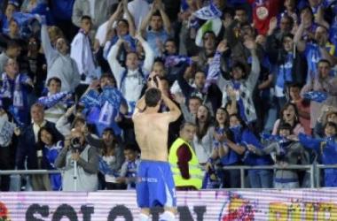 La afición del Getafe CF durante un encuentro de liga esta temporada. (FOTO:marca.com)
