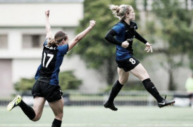 Little (right) has taken the NWSL by storm since moving Stateside. (Photo: NWSL Soccer)