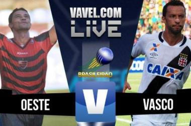 Resultado Oeste x Vasco na Série B do Campeonato Brasileiro (1-1)