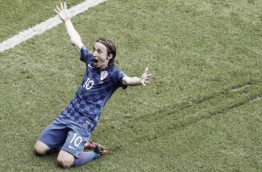 Luka Modric entschied die Partie gegen die Türkei. | Quelle: AP