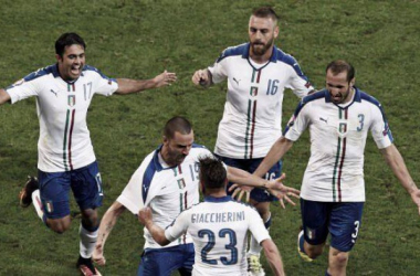 Der Jubel nach dem 1:0-Treffer von Emanuele Giaccherini. | Quelle: AFP