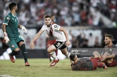 FELIZ. Álvarez, fue uno de los goleadores en el último partido de River siendo local ante Independiente. Foto: Getty images