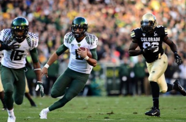 Can the Spartans slow down Marcus Mariota? (Image: Ron Chenoy, USA TODAY Sports)
