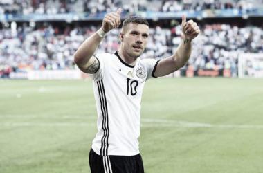 Tritt nach zwölf Jahren aus der DFB-Elf zurück: Lukas Podolski. | Quelle: imago