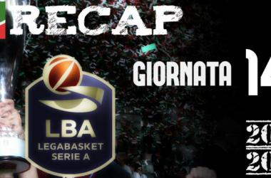 Legabasket: risultati e tabellini della 14esima giornata