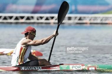 Fernando Pimenta na final Olímpica de canoagem.