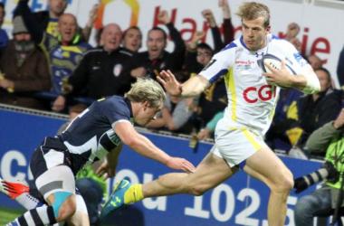 Clermont n'a pas fait dans le détail à l'image de Rougerie. Crédit photo: asm-rugby.com