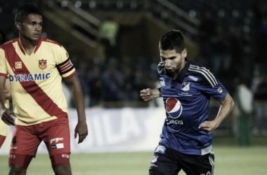 Agudelo celebra su gol. Foto: AS Colombia.