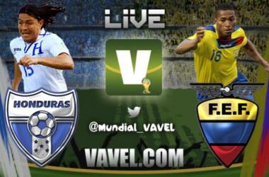 Resultado Ecuador - Honduras por el Mundial Brasil 2014 (1-2)