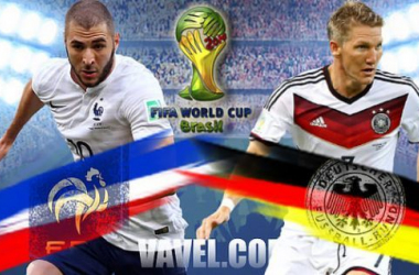 France and Germany face off for a place in the last eight.