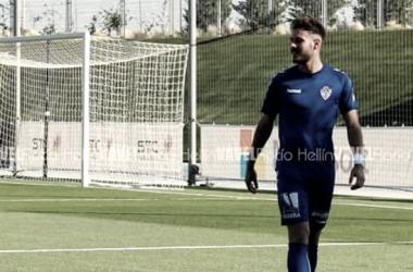 Álvaro Marín en un entrenamiento con el Socuéllamos | Foto VAVEL: Rocío Hellín