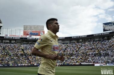 Oribe Peralta llegó este sábado a 40 goles con la playera del América (Foto: Rodrigo Peña | VAVEL México)