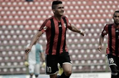 Gómez celebrando su primer gol de esta campaña. FOTO: meridiano