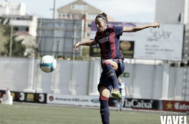 Jenni Hermoso con el Barça la temporada 2014/2015. Foto: VAVEL