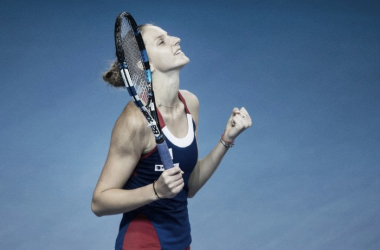 Relief on Pliskova's face after the match eventually concluded | Photo: Fed Cup