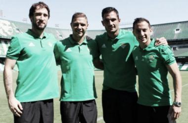 Los cuatro capitanes para la temporada. Foto: @RealBetis