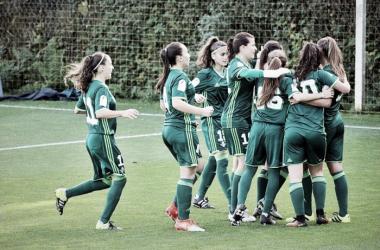 El Betis Féminas celebra el segundo tanto frente a la Real Sociedad | Foto: Real Betis Féminas