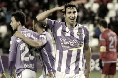 Jaime Mata celebrando un gol durante la presente campaña | Foto: La Liga
