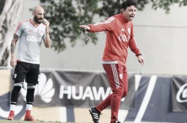 Gallardo, contento por las llegadas de Pratto y Armani (Foto: Prensa River)