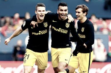 Goleada del Atlético para retomar el buen camino