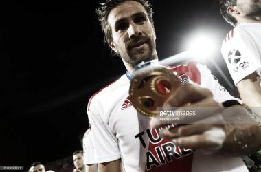 VIGENTE. Ponzio, es el único jugador que sigue estando en el actual mando de Gallardo como DT. Foto: Getty images