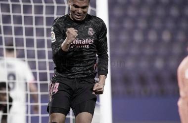 Casemiro celebrando su gol | Foto: Real Madrid CF