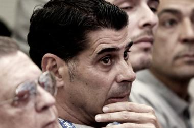 Fernando Hierro en la destitución de Lopetegui. / FOTO: EFE