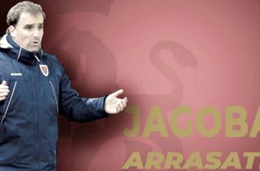 Jagoba Arrasate en los banquillos sorianos // Fuente: La Liga