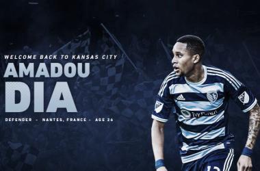 Amadou Dia vuelve a Sporting Kansas City