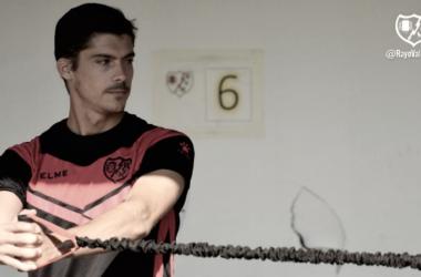 Javi Noblejas durante un entrenamiento | Fotografía: Rayo Vallecano S.A.D.