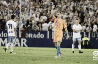 Toni Martínez celebrando el gol | Fotografía: LaLiga
