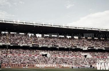 El estadio de Vallecas está en obras