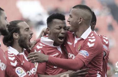 Uche celebra su primer gol de la temporada. FOTO: La LIga.