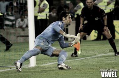 Dani Giménez durante un partido con el Betis | Fotografía: Juan Ignacio Lechuga