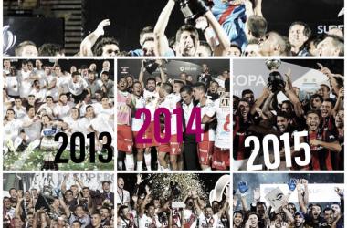 EN DETALLES. Cada campeón de la Supercopa Argentina año por año,. ¿Quién levanta el trofeo el jueves?-. Foto: Nicolás Castillo-Vavel Argentina