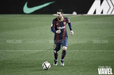 Leo Messi en un partido durante la presente temporada | Foto de Noelia Déniz, VAVEL