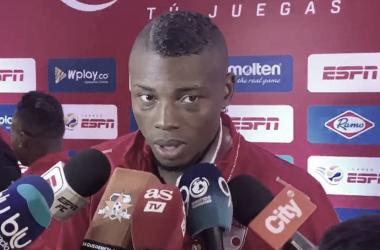 Jeisson Palacios, figura del partido entre Santa Fe y Envigado