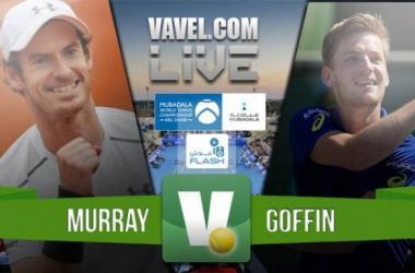 Resumen Andy Murray 0-2 David Goffin en Mubadala World Tennis Championship 2016