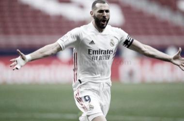 Benzema celebrando su gol| Foto: Real Madrid CF