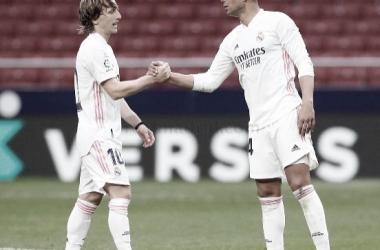 Modric y Casemiro después del choque ante el Atlético | Foto: Real Madrid CF