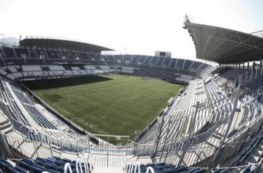 La Rosaleda totalmente vacía / Foto: Málaga CF