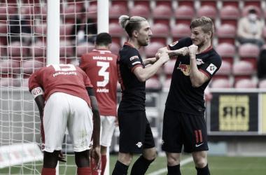 Exhibición del RB Leipzig ante el Mainz 05