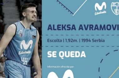 Aleksa Avramovic renueva por una temporada más con el Movistar Estudiantes