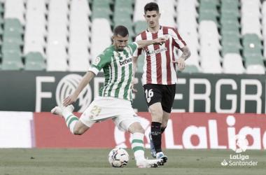 Guido Rodríguez y Sancet en el Benito Villamarín (0-0) | Foto: LaLiga