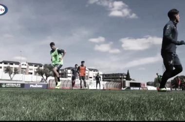 Jugadores en la sesión. Fotografía: Rayo Majadahonda
