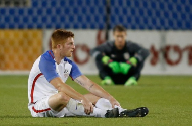 Tim Parker attempts to come to terms with the United States' loss. (Photo provided by USA TODAY Sports)